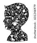 boy head full of creative ideas   Shutterstock .eps vector #631246979