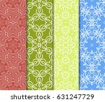 set of floral ornament.... | Shutterstock .eps vector #631247729