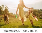 mother walk with his little... | Shutterstock . vector #631248341