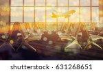 passenger seat in departure... | Shutterstock . vector #631268651