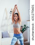 sporty athletic woman...   Shutterstock . vector #631270601