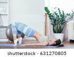 young sportswoman doing...   Shutterstock . vector #631270805