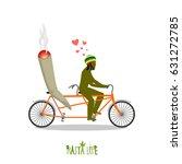 rasta life. rastafarian and... | Shutterstock . vector #631272785