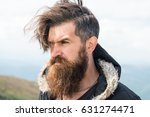 bearded man  long beard  brutal ... | Shutterstock . vector #631274471
