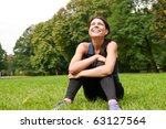 young happy smiling woman... | Shutterstock . vector #63127564