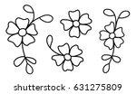 cute black and white outline... | Shutterstock .eps vector #631275809
