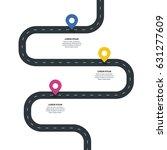 three steps winding asphalt...   Shutterstock .eps vector #631277609