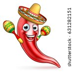 a mexican red chilli pepper... | Shutterstock . vector #631282151
