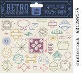 retro design elements hipster... | Shutterstock .eps vector #631289579