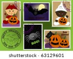 baby's postage marks and stamps ... | Shutterstock . vector #63129601