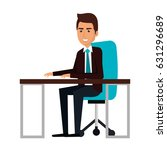 businessman in workplace avatar ... | Shutterstock .eps vector #631296689