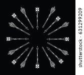 vector black and white ethnic...   Shutterstock .eps vector #631299209
