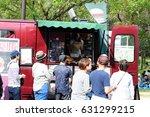burger shop flea market at... | Shutterstock . vector #631299215