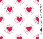 vector grunge seamless pattern... | Shutterstock .eps vector #631299227