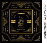 vector vintage frame label for... | Shutterstock .eps vector #631299317