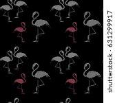 flamingo seamless pattern.... | Shutterstock .eps vector #631299917