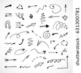 hand drawn arrows  vector set | Shutterstock .eps vector #631300781