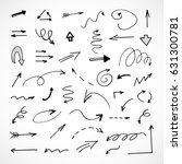 hand drawn arrows  vector set | Shutterstock .eps vector #631300781