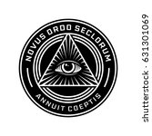 new world order emblem with all ... | Shutterstock .eps vector #631301069