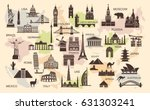 icon architectural monuments... | Shutterstock .eps vector #631303241