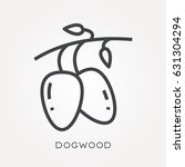 line icon dogwood | Shutterstock .eps vector #631304294
