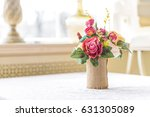 table decor flowers in... | Shutterstock . vector #631305089