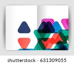 vector triangle business annual ... | Shutterstock .eps vector #631309055