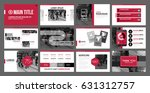 presentation templates with... | Shutterstock .eps vector #631312757