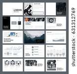 presentation templates with... | Shutterstock .eps vector #631312769