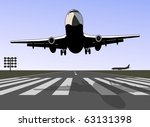 take off airplane | Shutterstock . vector #63131398