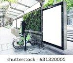 mock up billboard light box at... | Shutterstock . vector #631320005