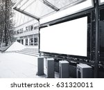 mock up banner light box at bus ... | Shutterstock . vector #631320011