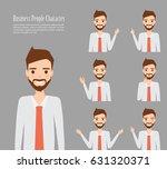 set of business man on... | Shutterstock .eps vector #631320371