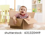 pretty baby infant boy sitting... | Shutterstock . vector #631320449