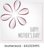 happy mother's day card. cutout ... | Shutterstock .eps vector #631323491