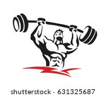 passionate body builder gym... | Shutterstock .eps vector #631325687