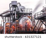 industrial view at oil and gas ... | Shutterstock . vector #631327121