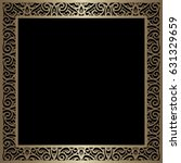 vintage gold background  square ... | Shutterstock . vector #631329659