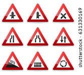 road signs collection isolated... | Shutterstock .eps vector #631330169