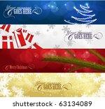 Set Of Winter Christmas Banner...
