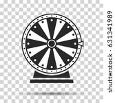 wheel of fortune  icon. vector... | Shutterstock .eps vector #631341989