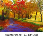 Oil Painting   Maple In Autumn