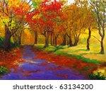 Oil Painting   Maple In Autumn