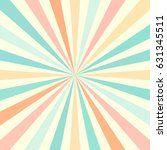 colorful retro rays background | Shutterstock .eps vector #631345511