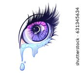 crying eye in anime or manga...   Shutterstock .eps vector #631345634