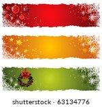 christmas banner set | Shutterstock .eps vector #63134776