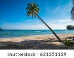 beautiful tropical island beach ... | Shutterstock . vector #631351139