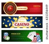 poker and online casino banner...   Shutterstock .eps vector #631356449