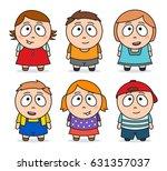 vector illustration of cute... | Shutterstock .eps vector #631357037