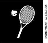 tennis racket logo vector... | Shutterstock .eps vector #631361855